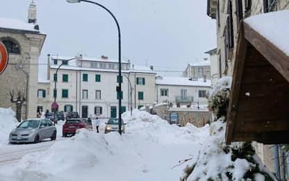 Nevica in tutta la provincia di Isernia, -10 a Capracotta