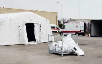 Covid: Termoli, in fase montaggio ospedale da campo Cri