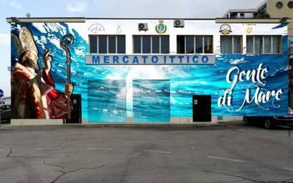 Termoli, un murale in porto dedicato a San Basso