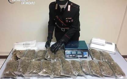 Droga: aveva in casa 3,9 chili di marijuana, arrestato