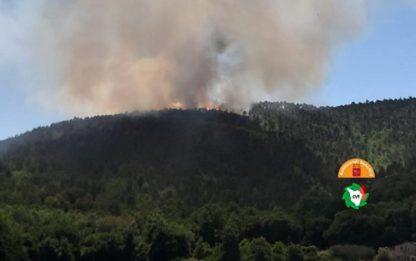 Incendi, rogo in boschi del Mugello