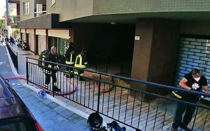 Nove intossicati per incendio in scantinato, anche bambini