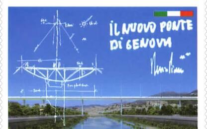 Ponte Genova: un francobollo celebra inaugurazione
