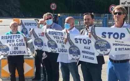 FdI protesta contro cantieri Aspi