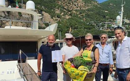 Prodotti kmzero in barca a Alassio
