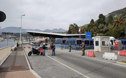 Covid: controlli a valico Ventimiglia con coprifuoco Francia