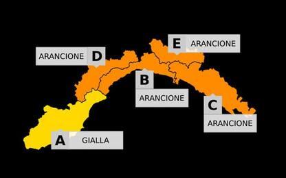 Maltempo: in Liguria domani allerta arancione per piogge