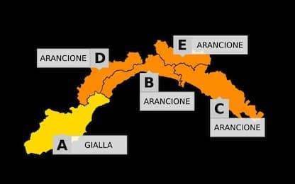 Maltempo: scattata l'allerta arancione nel centro-ponente