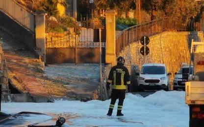 Aurelia chiusa al traffico a Sanremo per una fuga di gas