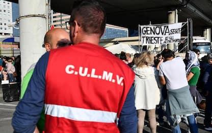 Green pass: sesto giorno di presidio in porto a Genova
