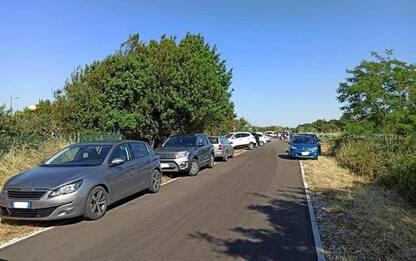 Parcheggio selvaggio in cantieri Via Verde,Pupillo'vergogna'