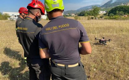 Incendi L'Aquila: 12 droni vvf con termocamera in azione