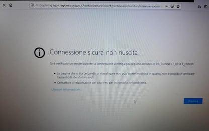 Vaccini: Abruzzo, boom accessi, piattaforma prenotazioni in tilt