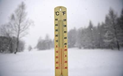 Gelo in Abruzzo, minima Piani di Pezza -24,9