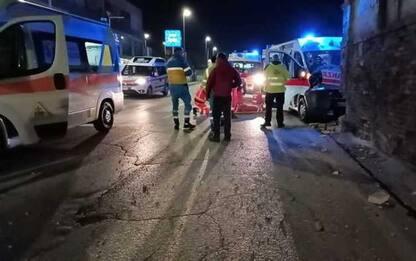 Ambulanza Croce Rossa fuori strada, 4 feriti a Pescara