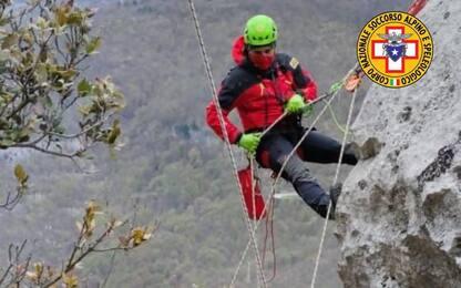 Monticchio, addestramento Soccorso Alpino e IX Reggimento AlpinI