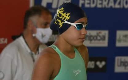 Dall'Abruzzo all'Aniene per un sogno, nuotatrice 13enne da record