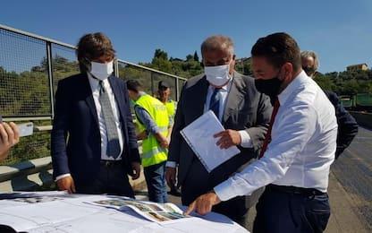 Cancelleri visita cantiere viadotto