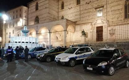 Clima 'coprifuoco' in centro storico Perugia
