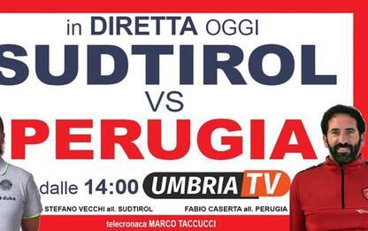 Sei gare del Perugia calcio live e integrali su Umbria Tv