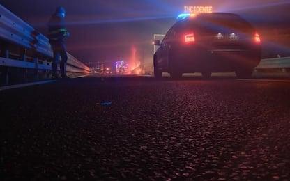 Bovini morti su A1 in seguito incendio Tir