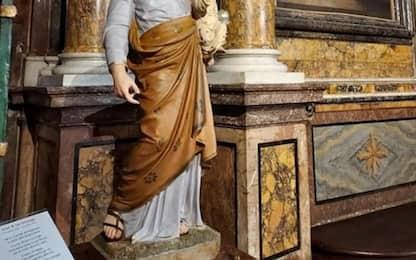 Esposta antica statua S.Giuseppe in cattedrale Perugia