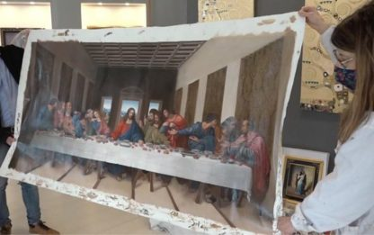 "Da Bottega Città Castello dipinti per serie tv ""Leonardo"""