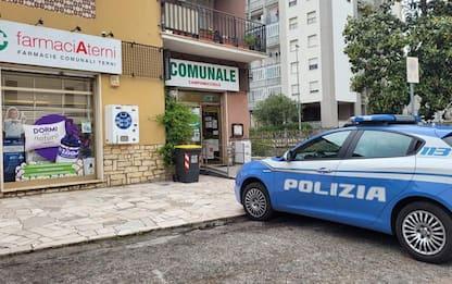 Rapina in farmacia comunale Terni, bottino 600 euro