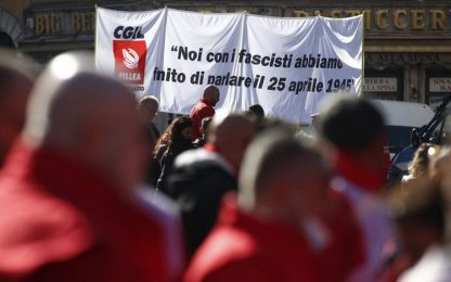 In mille dall'Umbria alla manifestazione dei sindacati a Roma