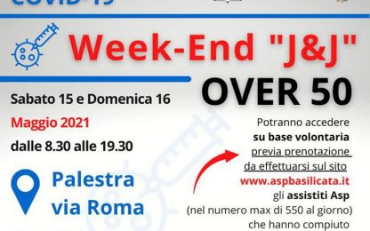 Vaccini: a Potenza weekend 'Open' con J&J per gli over 50