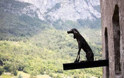 'Monumento alla resistenza' di Velasco Vitali a Castel Ivano