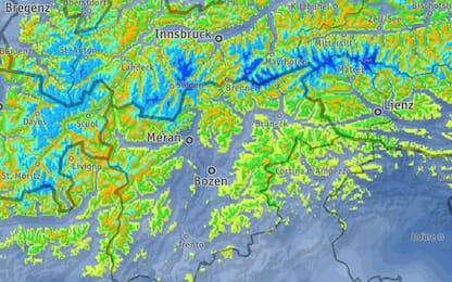 Maltempo: domani neve anche al Brennero
