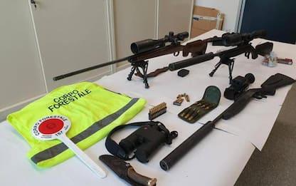Operazione antibracconaggio in val di Cembra, 4 denunce