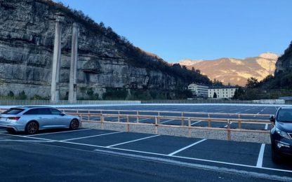 Trento, aperto nuovo parcheggio in area ex Italcementi