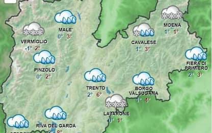 Trentino, allerta meteo arancione fino a lunedì 7