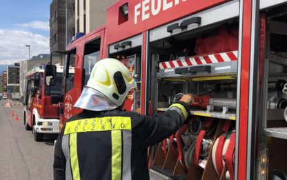 Incendi: fiamme in un appartamento a Bolzano, 4 feriti