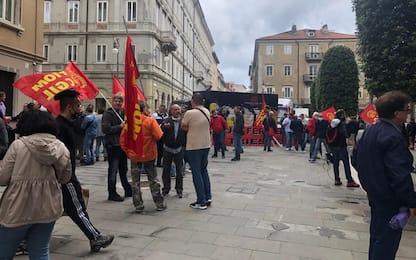 Ferriera: Fiom in piazza a Trieste, a rischio 168 lavoratori
