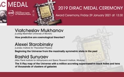 Medaglia Dirac, domani consegna a fisici vincitori
