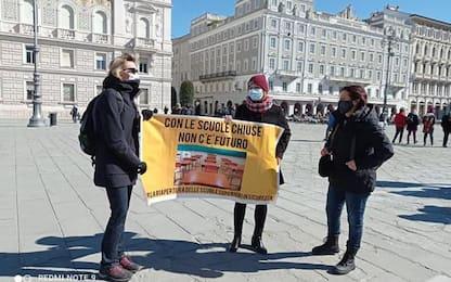 Covid: protesta a Trieste, con scuola chiusa non c'è futuro