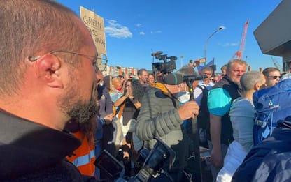 Green pass: Trieste; Varco 4 presidiato, pochi manifestanti