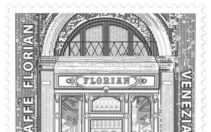 Caffe' Florian Venezia ha 300 anni,lo ricorda un francobollo