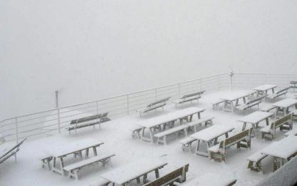 Cortina imbiancata da 70 centimetri di neve