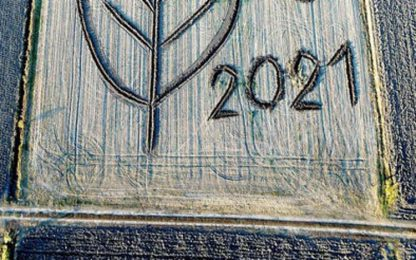 Clima: opera Land art di 26mila metri dedicata a Cop 26