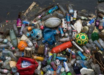 TREFOREST, UNITED KINGDOM - SEPTEMBER 09: Plastic bottles are seen in the River Taff on September 9, 2018 in Treforest, United Kingdom. Approximately 38.5 million plastic bottles are used in the UK every day. Just over half make it to recycling, while more than 16m are put into landfill, burned or leak into the environment and oceans daily. (Photo by Matthew Horwood/Getty Images)