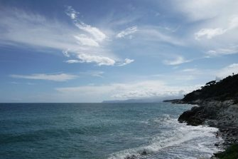 VARAZZE, ITALY - JUNE 10: A general view of Piani D'Invrea on June 10, 2020 in Varazze, Italy. The beaches in Liguria are reopened but still remain almost empty. The whole country is returning to normality after more than two months of a nationwide lockdown meant to curb the spread of Covid-19. (Photo by Vittorio Zunino Celotto/Getty Images)