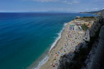 TROPEA, ITALY - SEPTEMBER 09: Tropea , Calabria on September 09, 2019 in Tropea, Italy. Tropea is a small town on the east coast of Calabria, in southern Italy.  (Photo by Saverio Marfia/Getty Images)