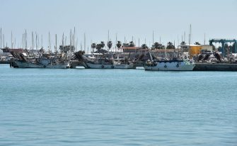 SAN BENEDETTO DEL TRONTO, ITALY - APRIL 24:  The fishing boats are moored and empty at the port of San Benedetto del Tronto because due to Covid-19 all commercial activities are closed on April 24, 2020 in San Benedetto del Tronto, Italy. Italy will remain on lockdown until May 4th to stem the transmission of the Coronavirus (Covid-19), but some industries are being allowed to reopen.  (Photo by Giuseppe Bellini/Getty Images)
