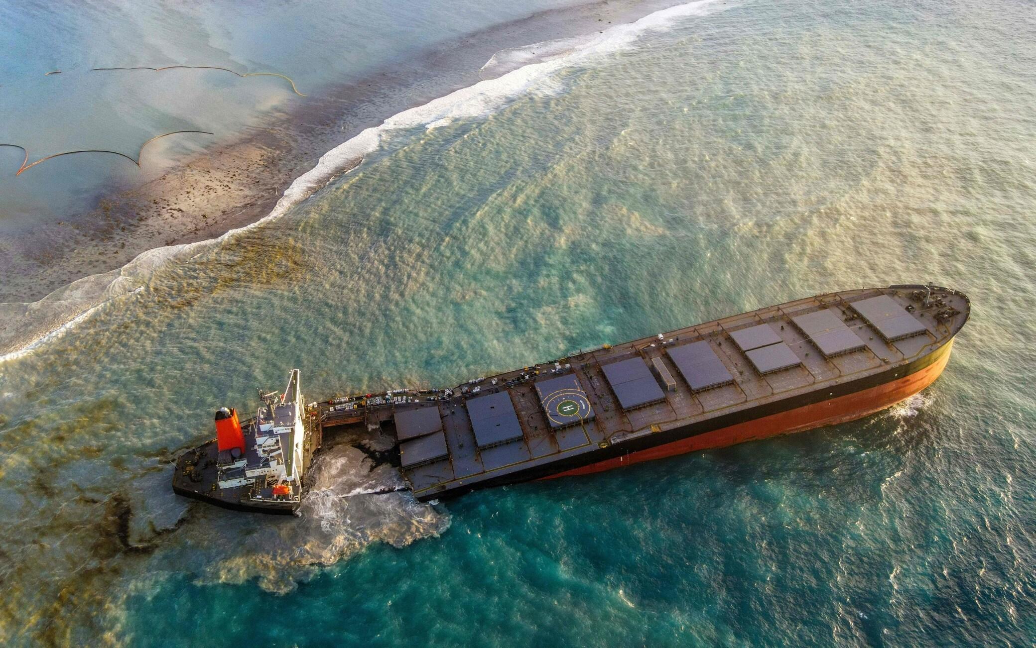 La nave incagliata alle Mauritius - ©Getty