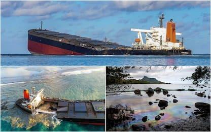 Mauritius, la nave arenata si è spezzata: cresce la marea nera. FOTO