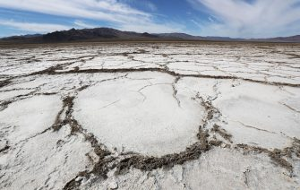 AMBOY, CALIFORNIA - SEPTEMBER 22: Bristol Lake, a dry lake bed, stands in the Mojave desert on September 22, 2019 in Amboy, California. California's Fourth Climate Change Assessment found that temperatures of the inland deserts of Southern California, including the Mojave desert, are expected to continue climbing. According to the report, average daily highs could increase as much as 14 degrees this century if greenhouse gas emissions keep rising. (Photo by Mario Tama/Getty Images)